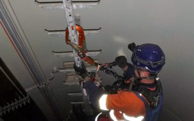 Wind Turbine Access Ladder inspection and maintenance