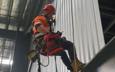 Infrastructure maintenance via Rope Access, Dandenong, Victoria.