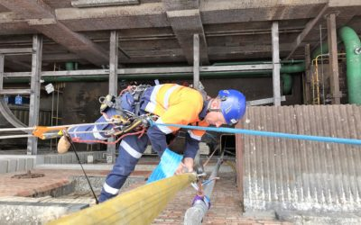 Pipework removal via Rope Access